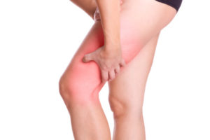 Muskel Sportverletzung im Oberschenkel - isoliert